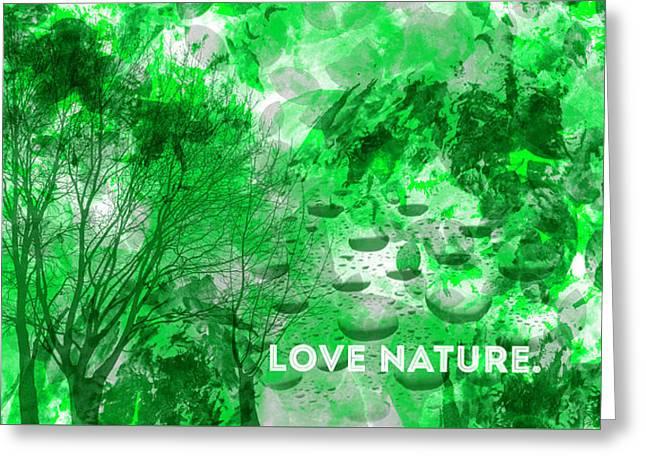 Emotional Art Love Nature Panoramic Greeting Card by Melanie Viola