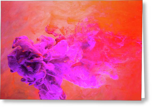 Emotional Fusion  - Abstract Art Photography Greeting Card by Modern Art Prints