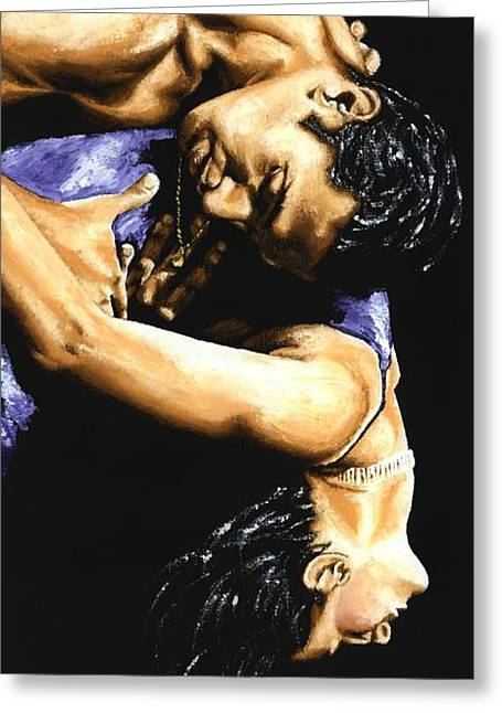 Emotional Tango Greeting Card by Richard Young