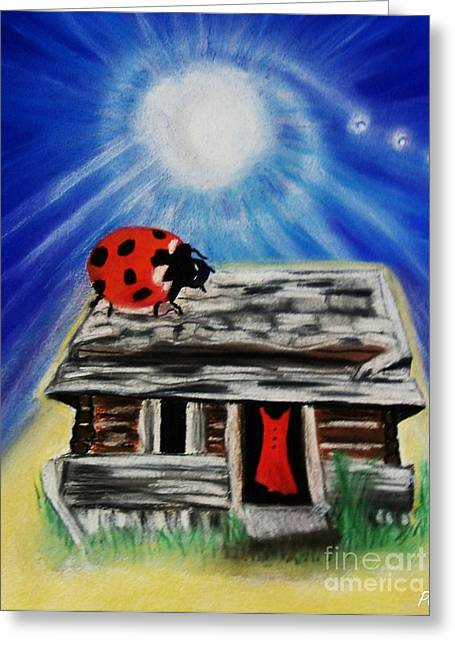 Old Cabins Pastels Greeting Cards - Emotive Greeting Card by Patsy Gunn