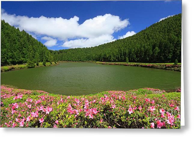 Azoren Greeting Cards - Empadadas Lakes Greeting Card by Gaspar Avila