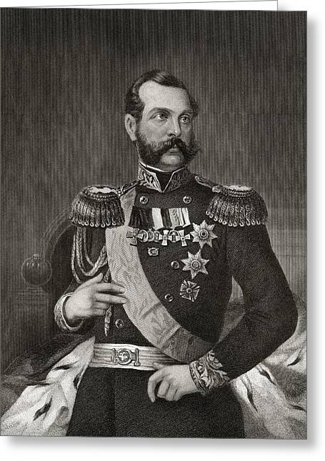 Tsar Alexander Greeting Cards - Emperor Alexander 2nd Of Russia 1818 To Greeting Card by Ken Welsh