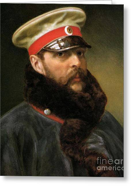 Emperor Alexander II Greeting Card by Russian School