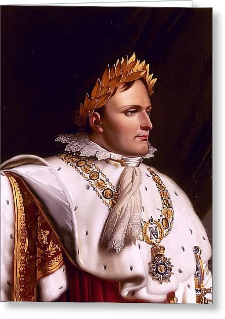 French Leaders Greeting Cards - Emperor Napoleon Bonaparte  Greeting Card by War Is Hell Store