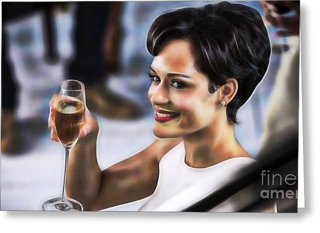 Pop Mixed Media Greeting Cards - Empire Grace Gealey as Anika Gibbons Greeting Card by Marvin Blaine