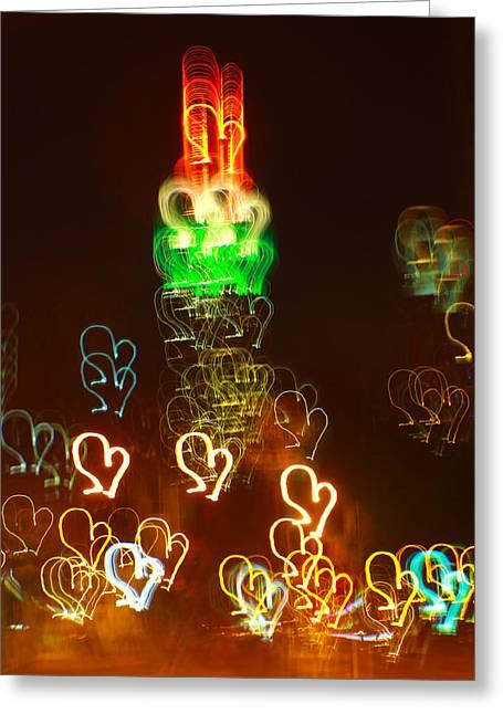 Beach Decor Pyrography Greeting Cards - Empire love Greeting Card by Habib Ayat