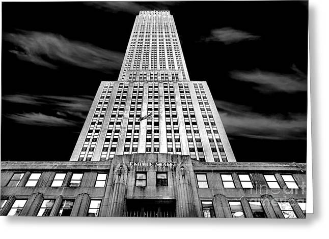 Famous Photographers Greeting Cards - Empire State   Greeting Card by Az Jackson
