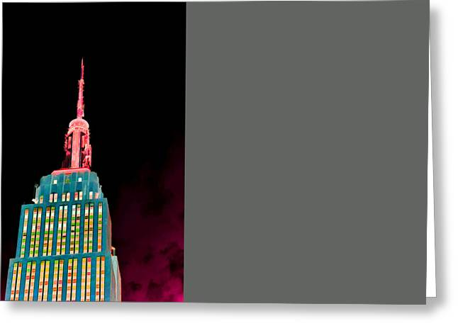 Tourism Greeting Cards - Empire State Building  3 Greeting Card by Lanjee Chee