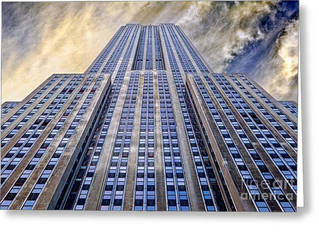 Building Greeting Cards - Empire State Building  Greeting Card by John Farnan
