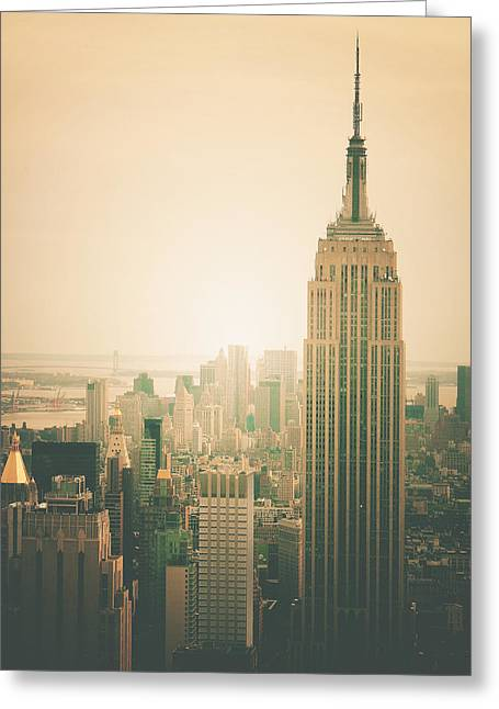 Haze Photographs Greeting Cards - Empire State Building - New York City Greeting Card by Vivienne Gucwa