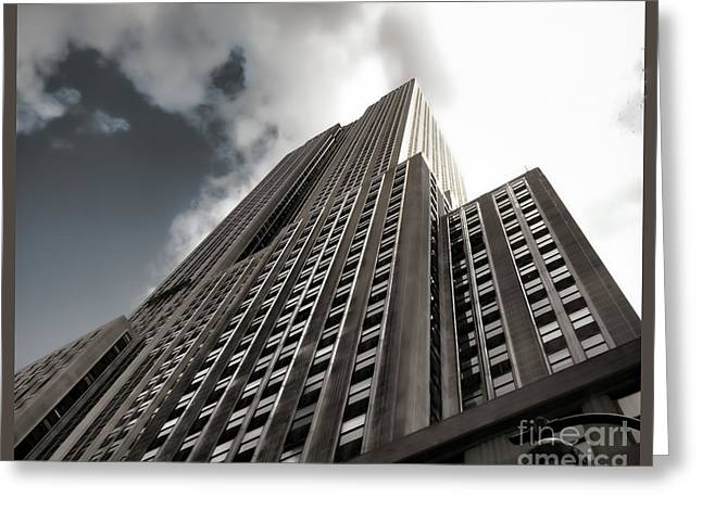 City Art Greeting Cards - Empire State - Vertigo in Reverse2 Greeting Card by Luther  Fine Art