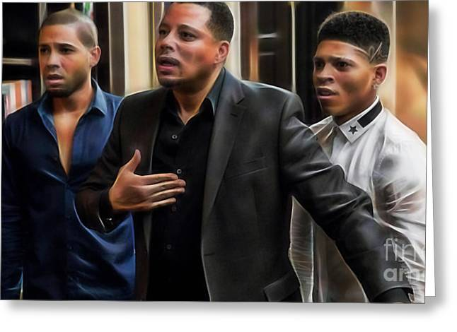 Actor Greeting Cards - Empire Terrance Howard Jussie and Bryshere Greeting Card by Marvin Blaine