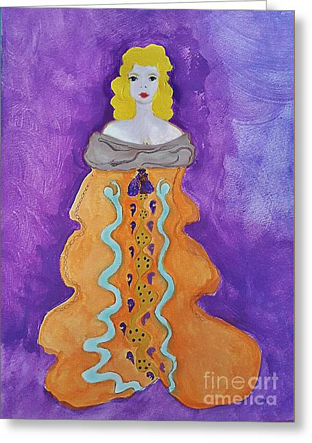 Empress In Gold Greeting Card by ARTography by Pamela Smale Williams