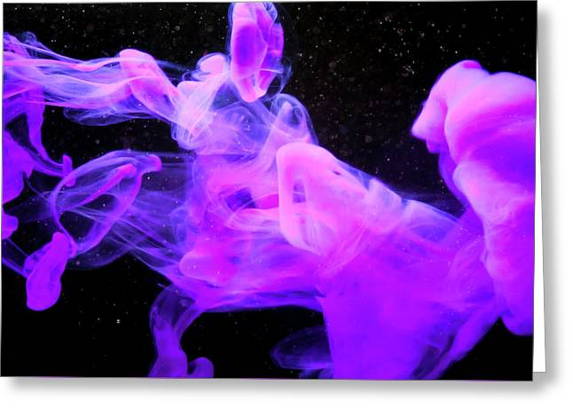 Emptiness In Harmony - Fine Art Photography - Paint Pouring Greeting Card by Modern Art Prints