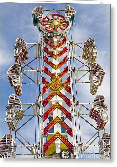 Height Greeting Cards - Empty Amusement Park Ride Greeting Card by Bryan Mullennix