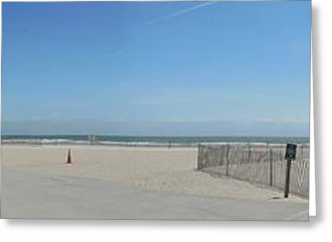 York Beach Greeting Cards - Empty Beach Greeting Card by Demian Legg