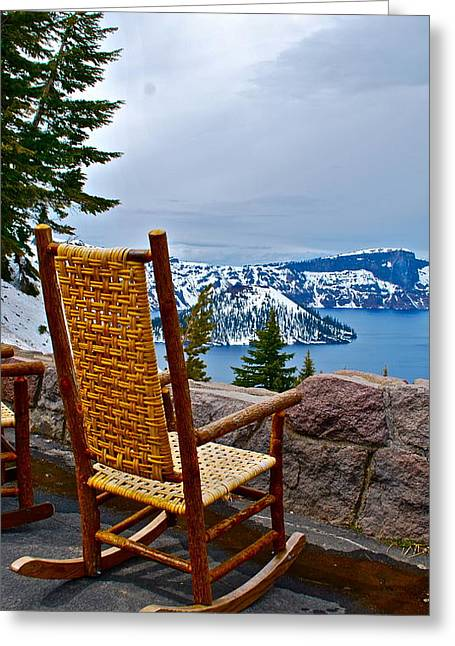 Empty Chairs Greeting Cards - Empty Chair Greeting Card by Dorota Nowak