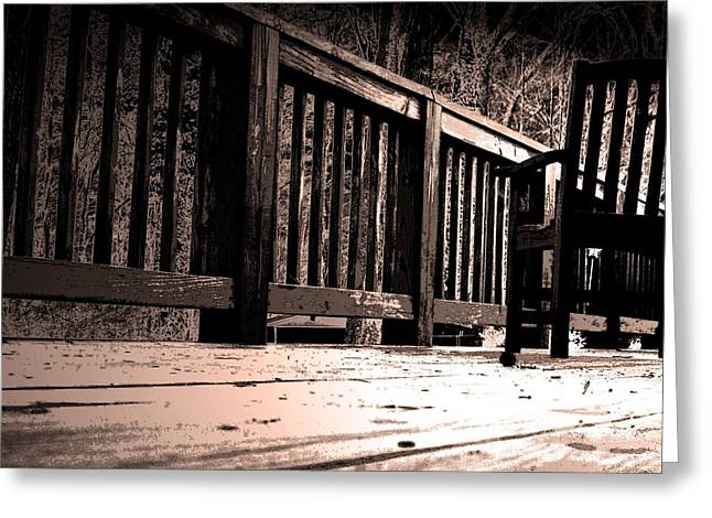 Empty Chairs Greeting Cards - Empty Chair Greeting Card by Steve Godleski