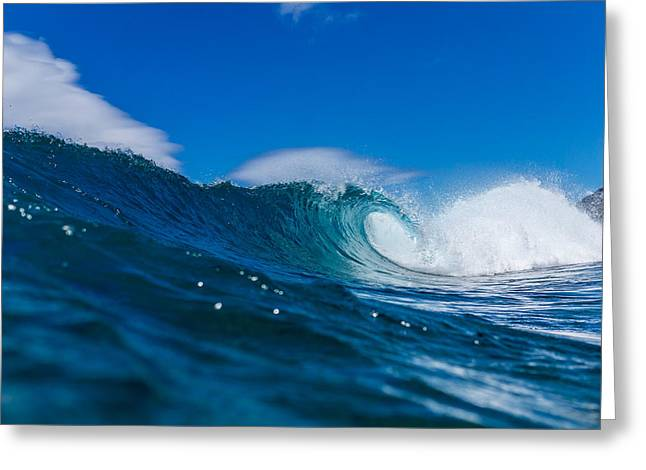 Beach Photography Greeting Cards - Empty Curl Greeting Card by Chris and Wally Rivera