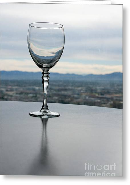 Wine-glass Greeting Cards - Empty Greeting Card by Dan Holm