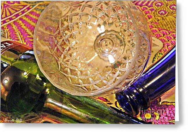 Empty Glass Greeting Card by Sarah Loft