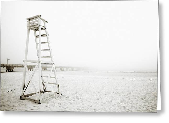 Empty Life Guard Tower 1 Greeting Card by Skip Nall
