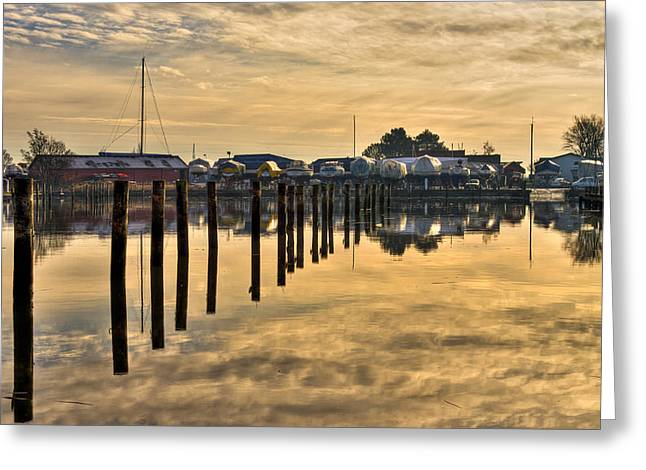 Closing Greeting Cards - Empty Marina Greeting Card by Gert Lavsen