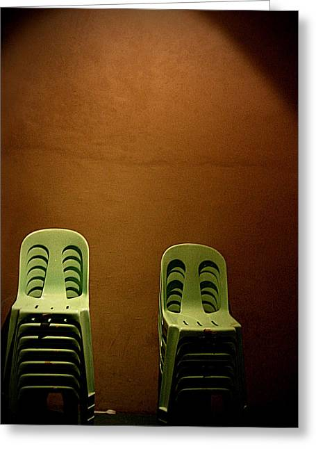 Empty Chairs Photographs Greeting Cards - Empty promises Greeting Card by Graphics Metropolis