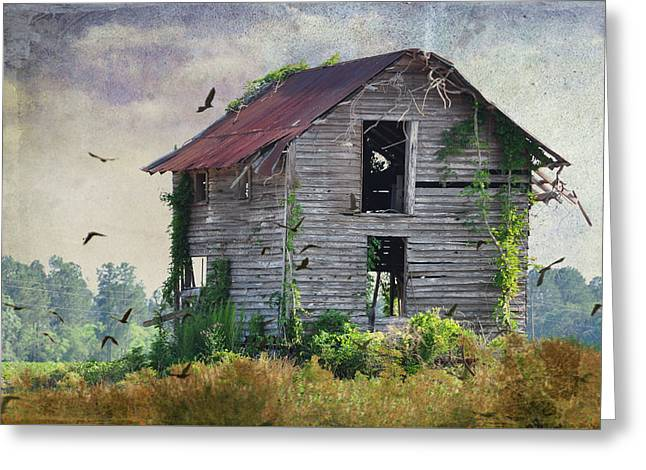 Rural Decay Digital Art Greeting Cards - Empty Spaces Greeting Card by Jan Amiss Photography