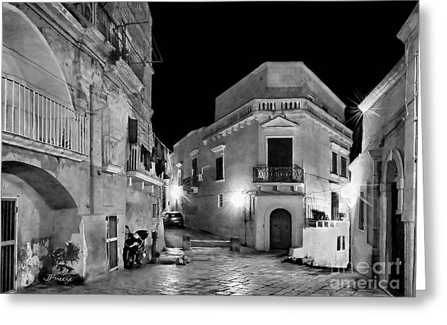 Southern Province Greeting Cards - Empty Streets of Matera.Italy Greeting Card by Jennie Breeze