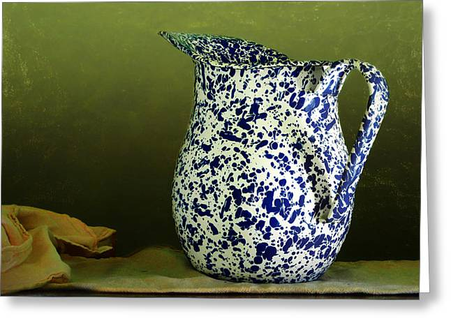 Enamelware - Pitcher Greeting Card by Nikolyn McDonald