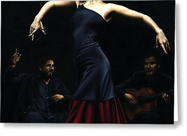 Encantado por Flamenco Greeting Card by Richard Young