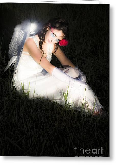 Eyelash Greeting Cards - Enchanted Angel Greeting Card by Ryan Jorgensen