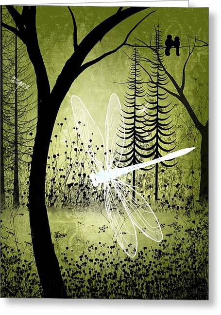 Fantasy Tree Art Greeting Cards - Enchanted Greeting Card by Charlene Zatloukal