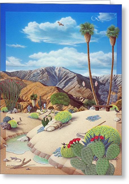 Deserts Greeting Cards - Enchanted Desert Greeting Card by Snake Jagger