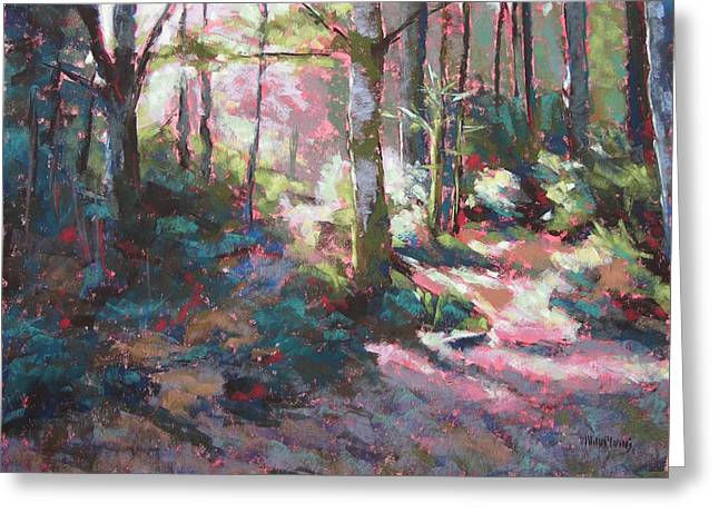 Hiking Pastels Greeting Cards - Enchanted Forest Greeting Card by Mary McInnis