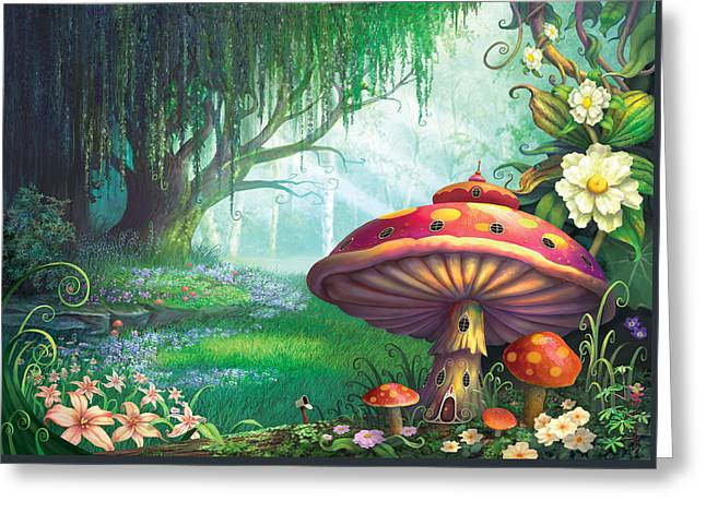 Magic Greeting Cards - Enchanted Forest Greeting Card by Philip Straub
