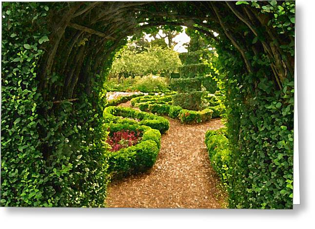 Abstract Digital Photographs Greeting Cards - Enchanted Garden Greeting Card by Jean Hall