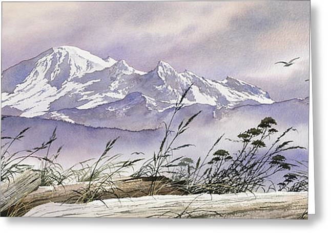 Landscape Framed Prints Greeting Cards - Enchanted Mountain Greeting Card by James Williamson