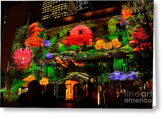 Enchanted Sydney - Floral By Kaye Menner Greeting Card by Kaye Menner
