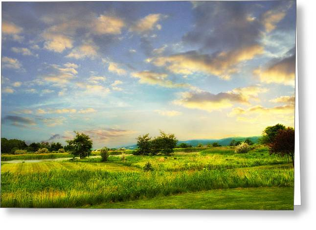 Enchanted Valley Greeting Card by Jessica Jenney