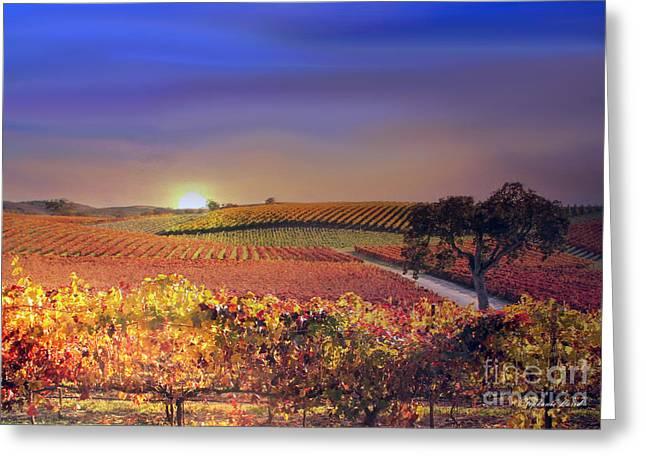 Enchanted Vineyard Greeting Card by Stephanie Laird