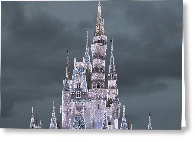 Enchanting Castle Greeting Card by The Art Of Marilyn Ridoutt-Greene