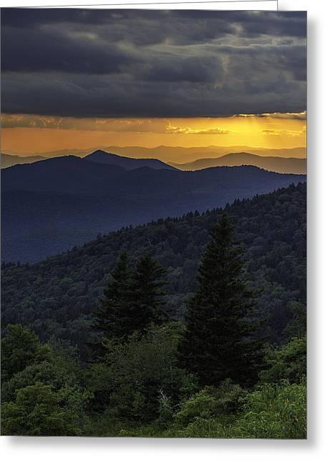 Southern Appalachians Greeting Cards - Enchantment. Greeting Card by Johan Hakansson