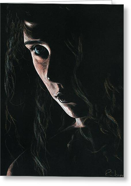 Figurative Pastels Greeting Cards - Enchantress Greeting Card by Richard Young