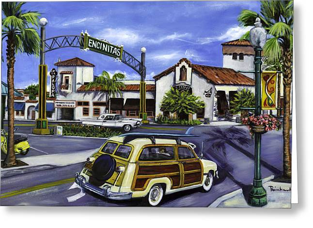Highway Greeting Cards - Encinitas Dreaming Again Greeting Card by Lisa Reinhardt