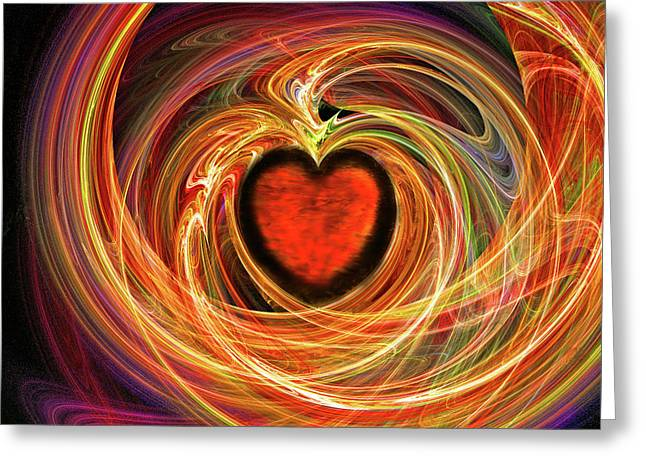 Encompassing  Love Greeting Card by Michael Durst