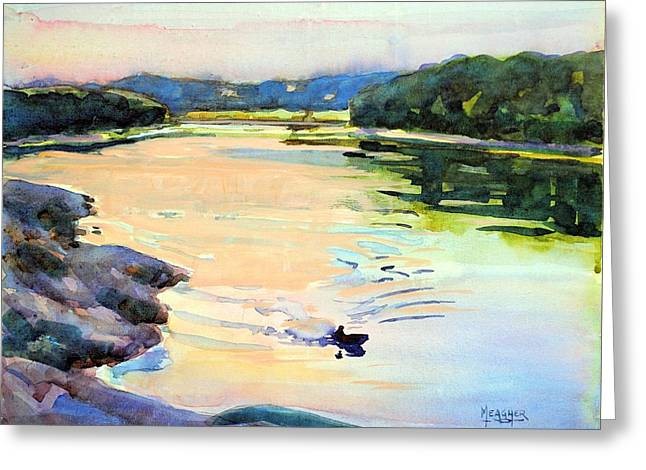 Missouri River Greeting Cards - End Of A Good Day Greeting Card by Spencer Meagher