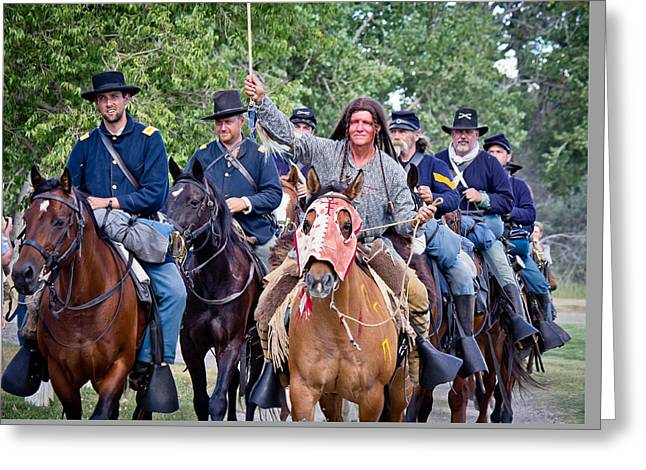 Historic Site Greeting Cards - End of a Long Ride Greeting Card by Diane Mintle
