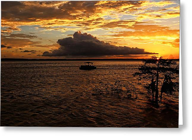 End Of A Perfect Day Greeting Card by Judy Vincent